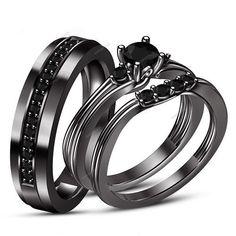 Prong Setting 0.80 Carat AAA Diamond Couple Wedding & Engagement Trio Ring Set #aonejewels