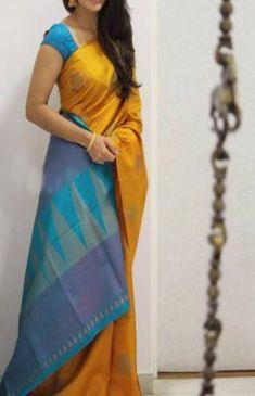 The Largest Online Indian ethnic wear store for women - Sarees, Salwar Suits. Cotton Saree Designs, Pattu Saree Blouse Designs, Half Saree Designs, Saree Blouse Patterns, Bridal Blouse Designs, Kanjivaram Sarees Silk, Indian Silk Sarees, Silk Cotton Sarees, Mysore Silk Saree