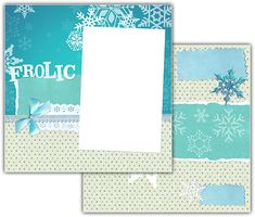 Download this Winter Frolic Scrapbook Layout and other free printables from MyScrapNook.com