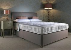 Harrison Beds Bronze 1500 Divan Set from George Tannahill & Sons - Large divan beds delivered in the UK. Lines Wallpaper, Unique Wallpaper, Divan Sets, Blue Wallpapers, Designer Wallpaper, Bronze, Bedroom, Beds, Furniture