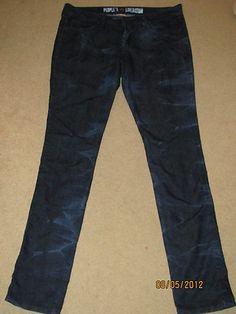 People's Liberation SKINNY Tie DYE Jeans HOT Dark Wash