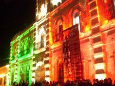 Teatro de Alamos iluminado