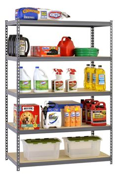 Adjustable, heavy-duty shelves and utility design accommodate all of your storage needs. #lowes #cybermonday #organization