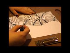 How to draw an optical illusion - YouTube
