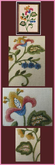 Motif floral crewel https://www.etsy.com/fr/shop/ColeshillCollection?page=1