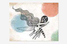"""Fly me to Venus - Art Print 8"""" x 10""""   - Oh OnlineStore"""