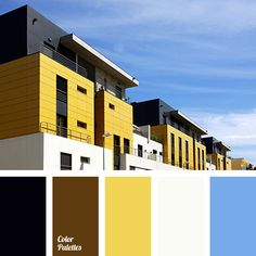 black, bright blue, bright yellow, brown, chocolate, color selection, color selection in the interior, Cyan Color Palettes, facade repair color solution, house color palette, house color solution, saffron, sky color, Yellow Color Palettes.