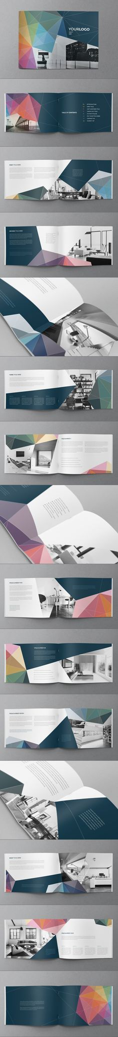 Buy Multicolor Modern Brochure by AbraDesign on GraphicRiver. MULTICOLOR MODERN BROCHURE This brochure is an ideal way to showcase your properties. It is a horizontal design, avai. Brochure Indesign, Design Brochure, Booklet Design, Brochure Layout, Brochure Template, Web Design, Layout Design, Creative Design, Graphic Design