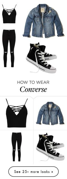 """Untitled #141"" by cupcake-11311 on Polyvore featuring Boohoo, Hollister Co. and Converse"