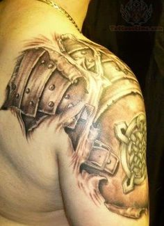 Right Shoulder Armor Tattoo