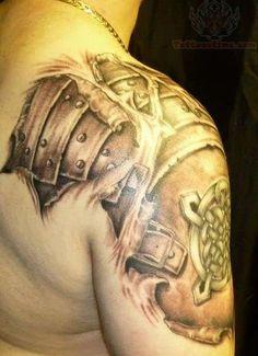 Right Shoulder Armor Tattoo