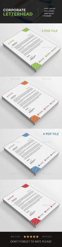 Corporate Letterhead Design Template PSD Letterhead Design - corporate letterhead template