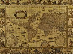 Cross Stitch Pattern of a Old World Map by WildStitchDesigns