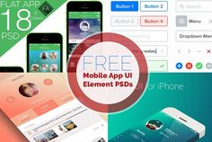 Here's a collection of over 10 set of free mobile app UI PSD Files, Project Free, Mobile App Ui, Ui Elements, Ui Kit, Creative Design, Cool Designs, Iphone, Summer, Top
