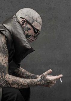 Model: Rick Genest - Tattoo #inked