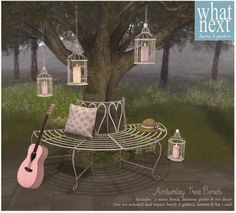 8ae390ad4af5 Second Life Marketplace - {what next} Amberley Tree Bench & Decor Sims 4  Controls