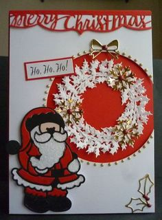 Card made using Tonic Rococo christmas die collection