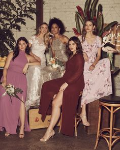 Shades of burgundy bridesmaid dresses! Pair with pinks and sparkles for a romantic party. Shop burgundy bridesmaid dresses at David's Bridal Burgundy Bridesmaid Dresses, Burgundy Wedding, Red Wedding, Wedding Ideas, Shades Of Burgundy, Party Shop, Davids Bridal, Crossdressers, Sparkles