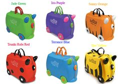Melissa & Doug Trunki Rolling Kids Luggage Ride-on Suitcase. Great for kids!