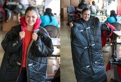 Veronika Scott was challenged to make something that filled a need so she made a coat that turns to a sleeping bag for homeless people. She now employs homeless women and makes 600 of these coats a month to distribute free to the homeless.