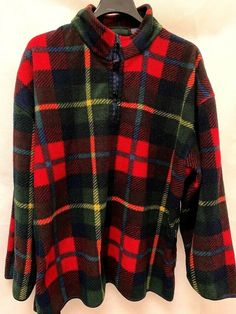 Trader Bay Sz 2XL Sweater Plaid Blanket 1/4 Zip Pullover Long Sleeves Mens #TraderBay #Pullover Mens Plus Size Fashion, Best Mens Fashion, Plaid Blanket, Online Price, Pullover, Zip, Long Sleeve, Sleeves, Sweaters