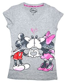 Disney Mickey and Minnie Mouse Women's Pajama T-Shirt Top