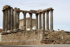 Evora - Portugal.  Roman Temple