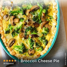 Broccoli Cheese Pie | We tested this on staff grandkids