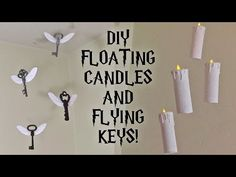 DIY Harry Potter Floating Candles and Flying Keys | Room/Party decor - YouTube