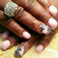 Bubble acrylic nails