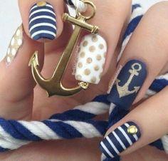Nautical anchor nails