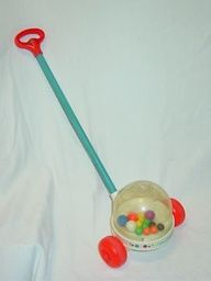 fisher price vintage toy popper - a favorite of my children.  I still remember the sound it made!