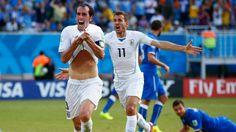 URUGUAY, a octavos con el corazón (0-1) - Uruguay clasificó a los octavos de final de Brasil 2014 al vencer por 1-0 a Italia en el duelo por el Grupo D, disputado en la Arena das Dunas de Natal, el martes 24 de junio de 2014... http://www.1502983.talkfusion.com/products/