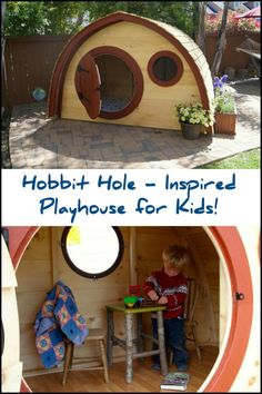 Apparently the hobbit holes make great playhouse for children too! These unique looking playhouses are inspired by the famous hobbit holes from the 'Lord of The Rings' movie.