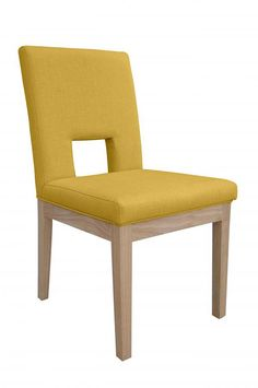 Grenada Fabric Ochre Chair - www.roncampion.co.uk