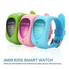 (51.54$)  Watch more here  - In stock mini Kids Smart Watch with Green/Pink/ Green Child gps phone watch Kid Wristwatch GPS Tracker Smart Watchs Anti-Lost