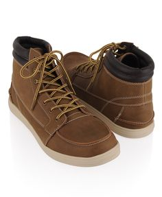Contrast Leatherette Shoes | 21 MEN