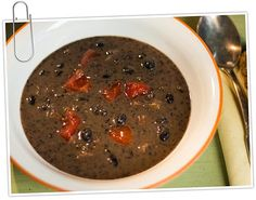 This traditional Costa Rican black bean soup — called sopa negra in Latin America — is filling and delicious. Use a blender for easy preparation.