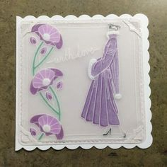 A Birthday Gallery... Clarity Card, Barbara Gray Blog, Parchment Cards, Paper Cards, Clear Stamps, Crafts To Make, Art Decor, Art Nouveau, Birthday Cards