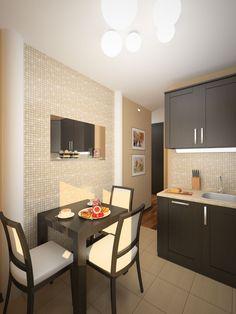 Дизайн интерьера кухни 6 кв.м - фотографии проекта