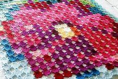 (4) Name: 'Crocheting : Pointillism Posie