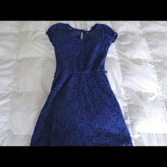Blue floral lace dress Blue lace dress Delias Dresses Mini