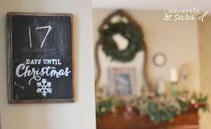 Christmas Countdown Chalkboard www.sincerelysarad.com