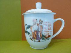 Jindezhen, Oriental Tea Cup w / Lid by BjsDoDads on Etsy