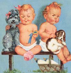 Vintage Charlotte Becker baby print