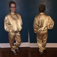 A personal favorite from my Etsy shop https://www.etsy.com/listing/245981994/1980s-boast-brand-shiny-gold-tracksuit