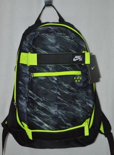 Bags and Backpacks 163537: Nike Sb Embarca Black Grey Volt Medium Backpack Ba4686 -> BUY IT NOW ONLY: $34.99 on eBay!