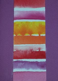 """Strata 2"" watercolour gift card by Rosie Kerr"