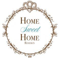Shabby Chic Logo for Home Sweet Home Shabby Chic Logo, Sweet Home, Princess, Design, House Beautiful, Princesses