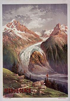 Mer de Glace - Chamonix - Mont Blanc - F. Hugo d'Alési (1900)
